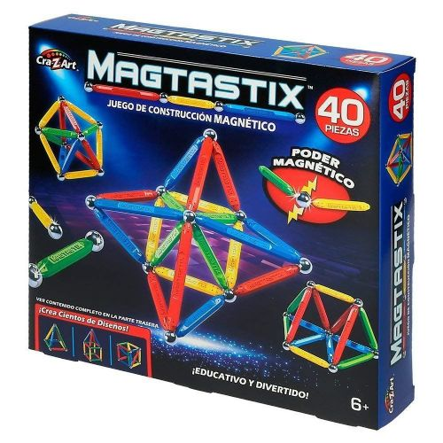 Magtastix 40 PIECE BUILDING Set -  3D MAGNETIC CONSTRUCTION - NEW